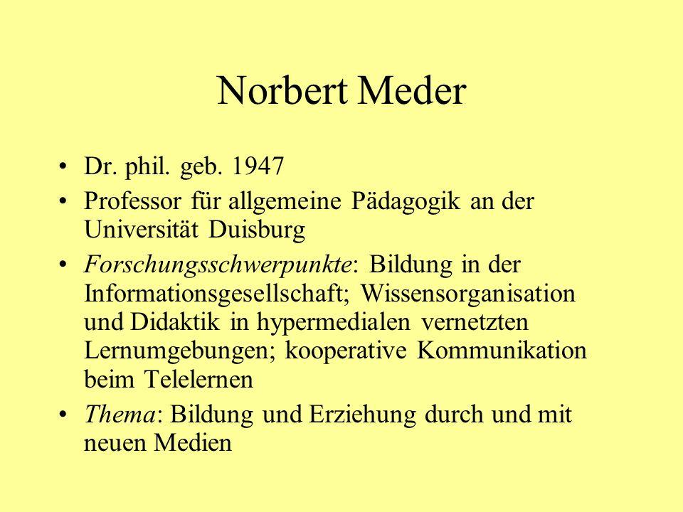 Norbert Meder Dr.phil. geb.