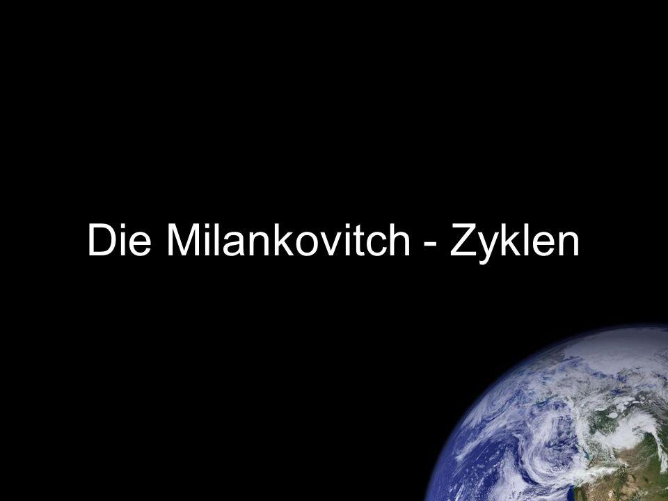 Die jährliche Sonneneinstrahlung Quelle: Milankovitch, Milutin: Mathematische Klimalehre, Berlin 1930