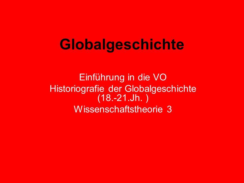 Globalgeschichte Einführung in die VO Historiografie der Globalgeschichte (18.-21.Jh. ) Wissenschaftstheorie 3