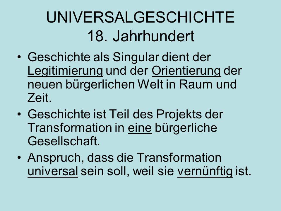 UNIVERSALGESCHICHTE 18.