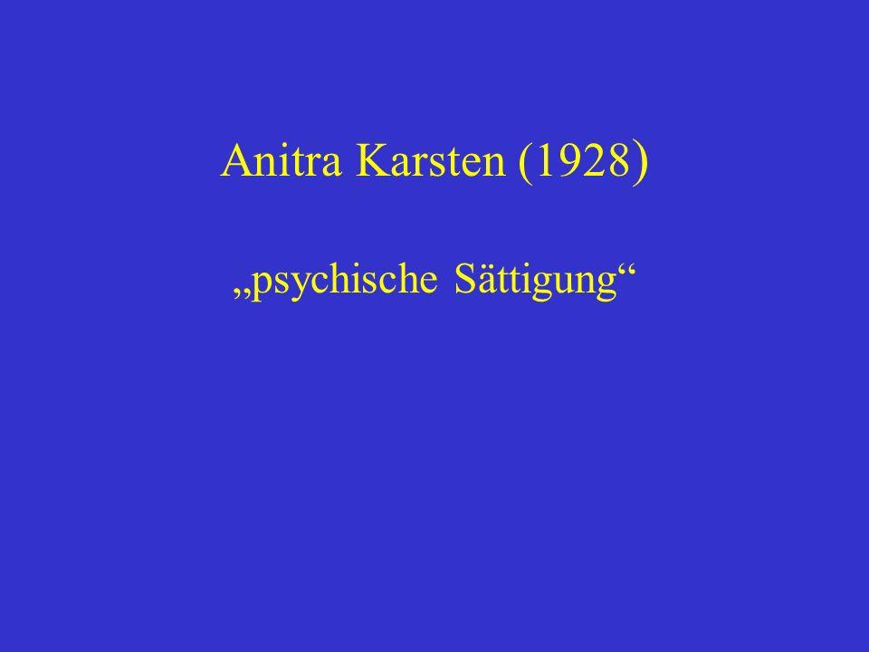 Anitra Karsten (1928 ) psychische Sättigung
