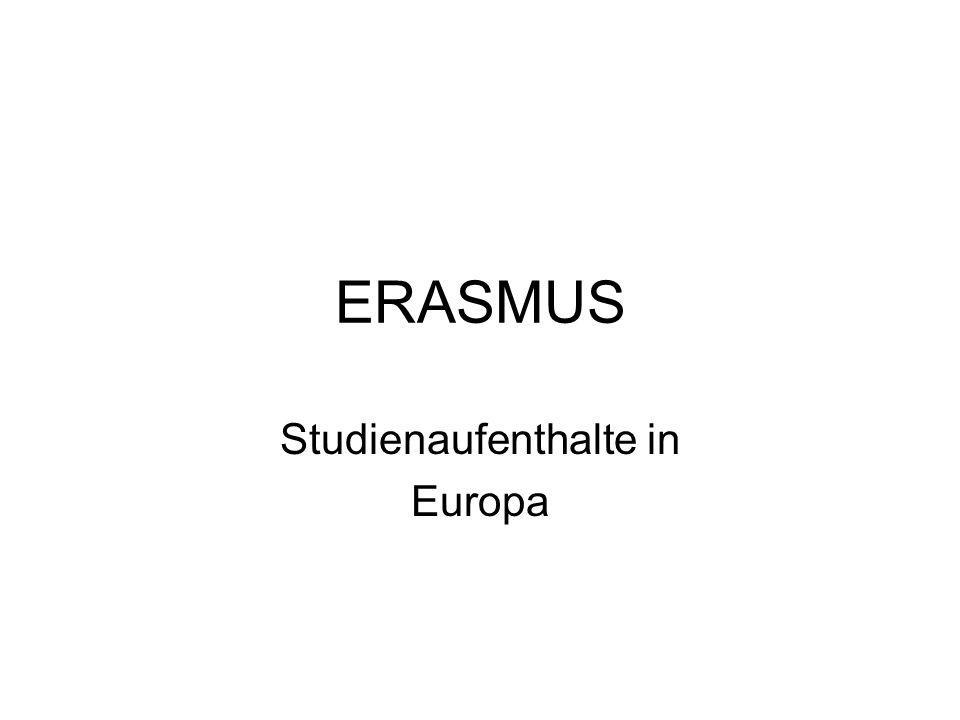 ERASMUS Studienaufenthalte in Europa