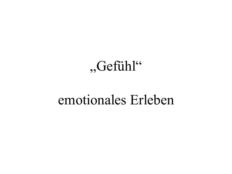 Gefühl emotionales Erleben