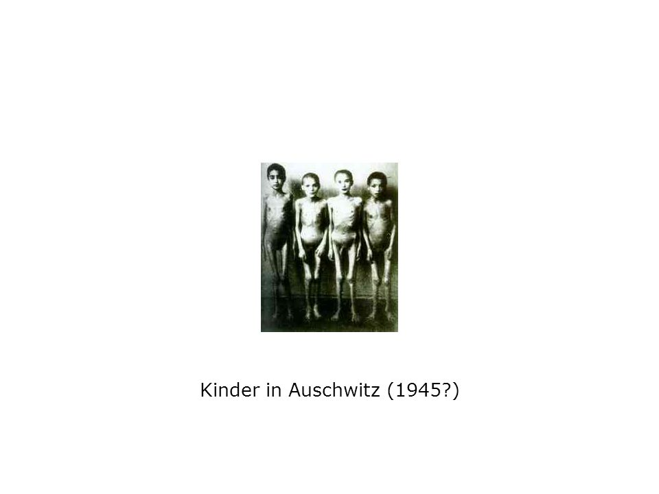 Kinder in Auschwitz (1945?)