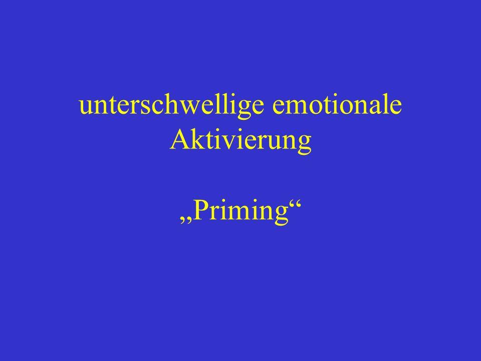 unterschwellige emotionale Aktivierung Priming