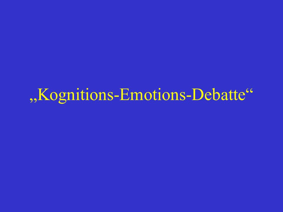 Kognitions-Emotions-Debatte