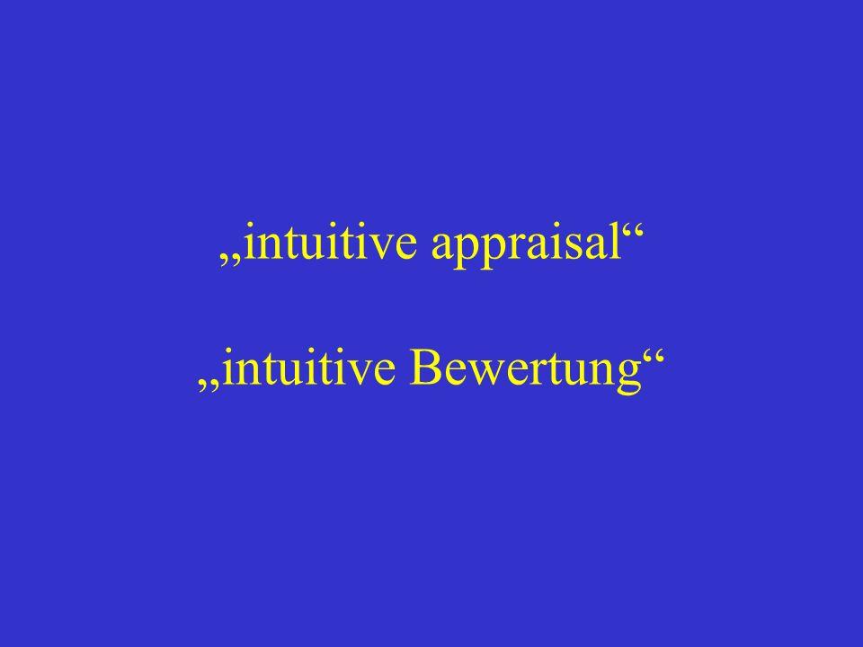 intuitive appraisal intuitive Bewertung