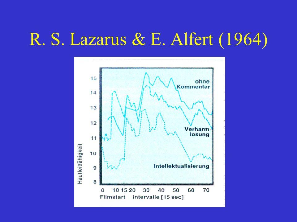 R. S. Lazarus & E. Alfert (1964)