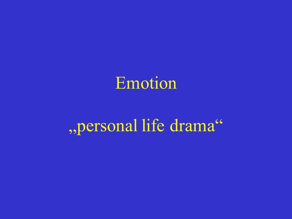 Emotion personal life drama