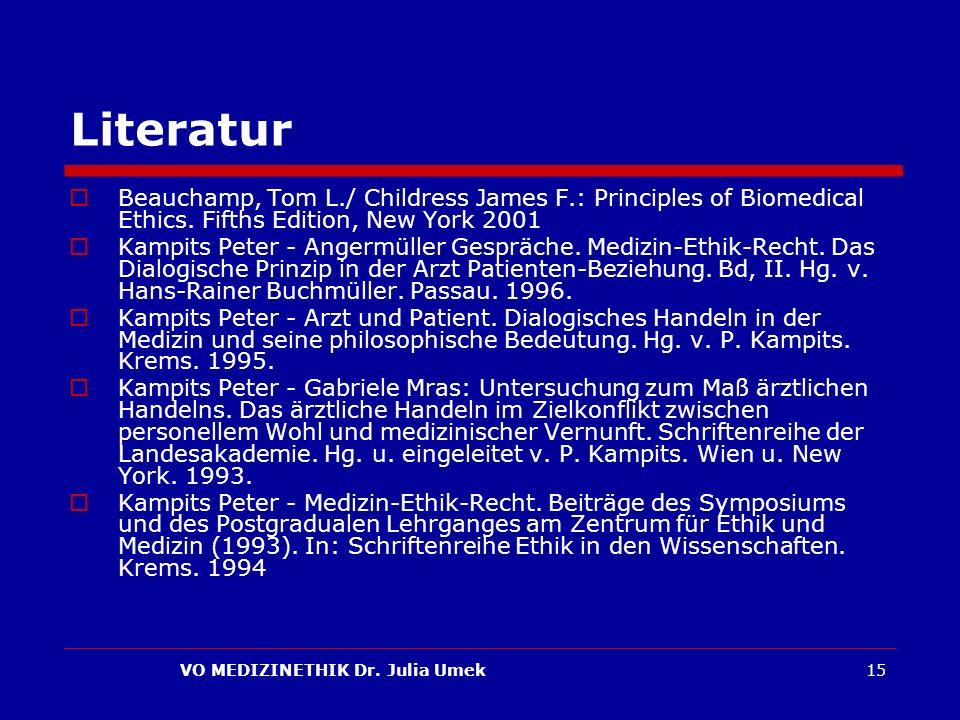 VO MEDIZINETHIK Dr.