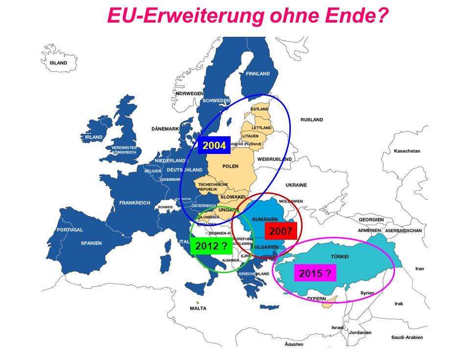 4 EU-Erweiterung ohne Ende? 2004 2007 2015 ? 2012 ?