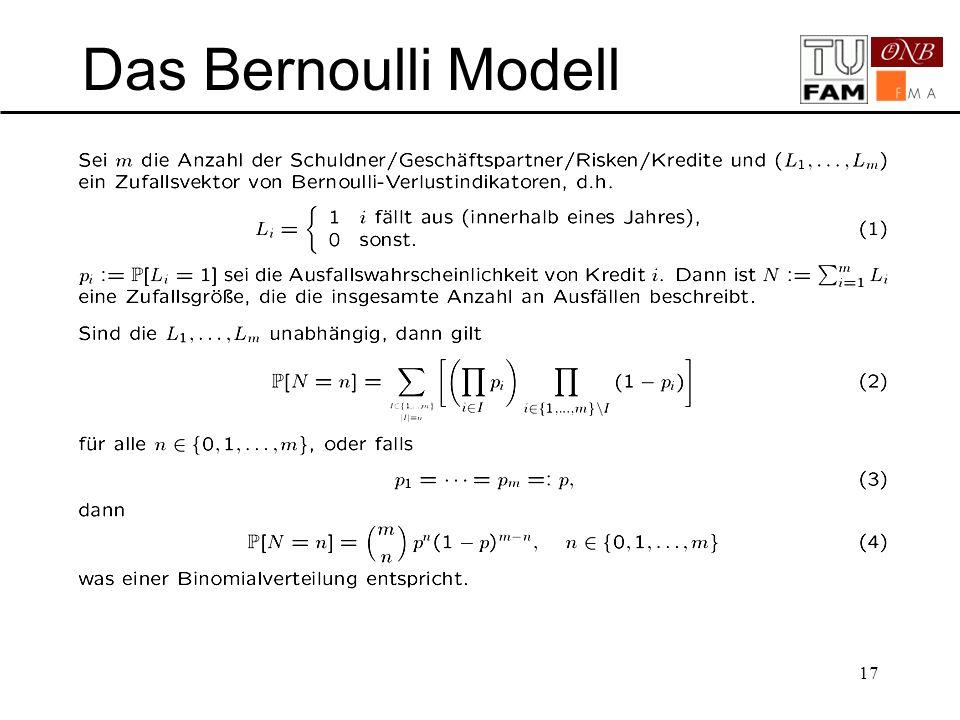 17 Das Bernoulli Modell