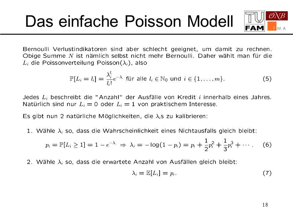 18 Das einfache Poisson Modell