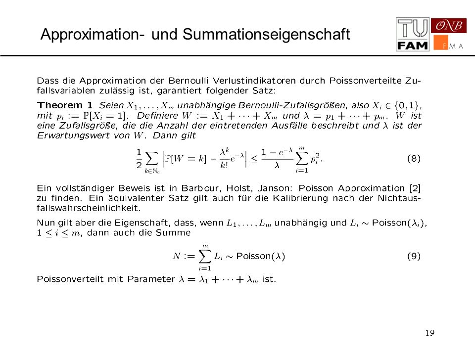 19 Approximation- und Summationseigenschaft