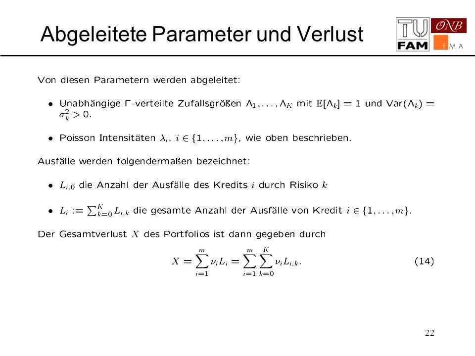 22 Abgeleitete Parameter und Verlust