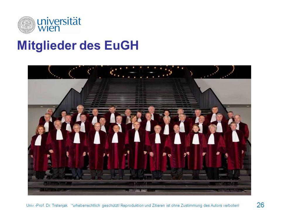 26 Mitglieder des EuGH
