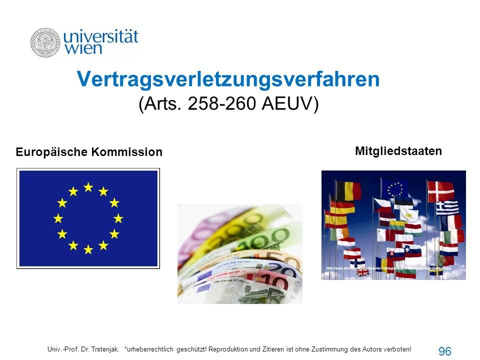 Vertragsverletzungsverfahren (Arts. 258-260 AEUV) Univ.-Prof. Dr. Trstenjak. *urheberrechtlich geschützt! Reproduktion und Zitieren ist ohne Zustimmun