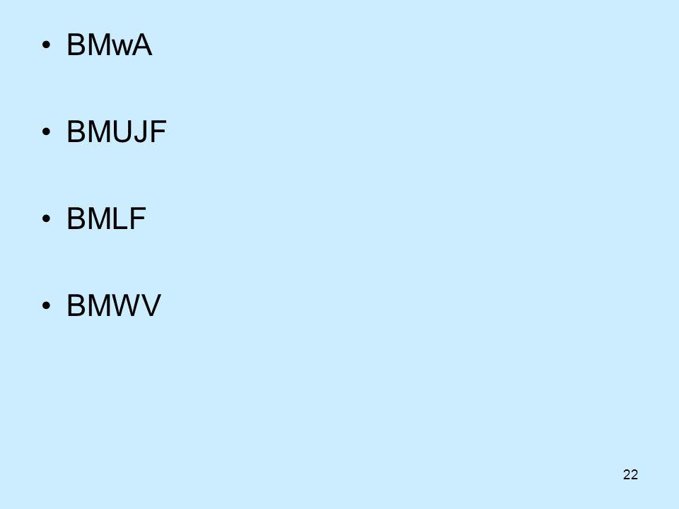 22 BMwA BMUJF BMLF BMWV
