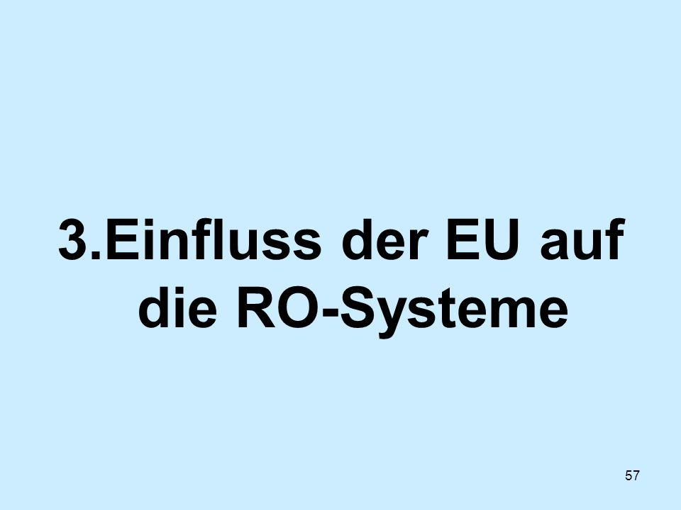 57 3.Einfluss der EU auf die RO-Systeme