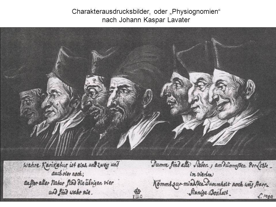 Charakterausdrucksbilder, oder Physiognomien nach Johann Kaspar Lavater