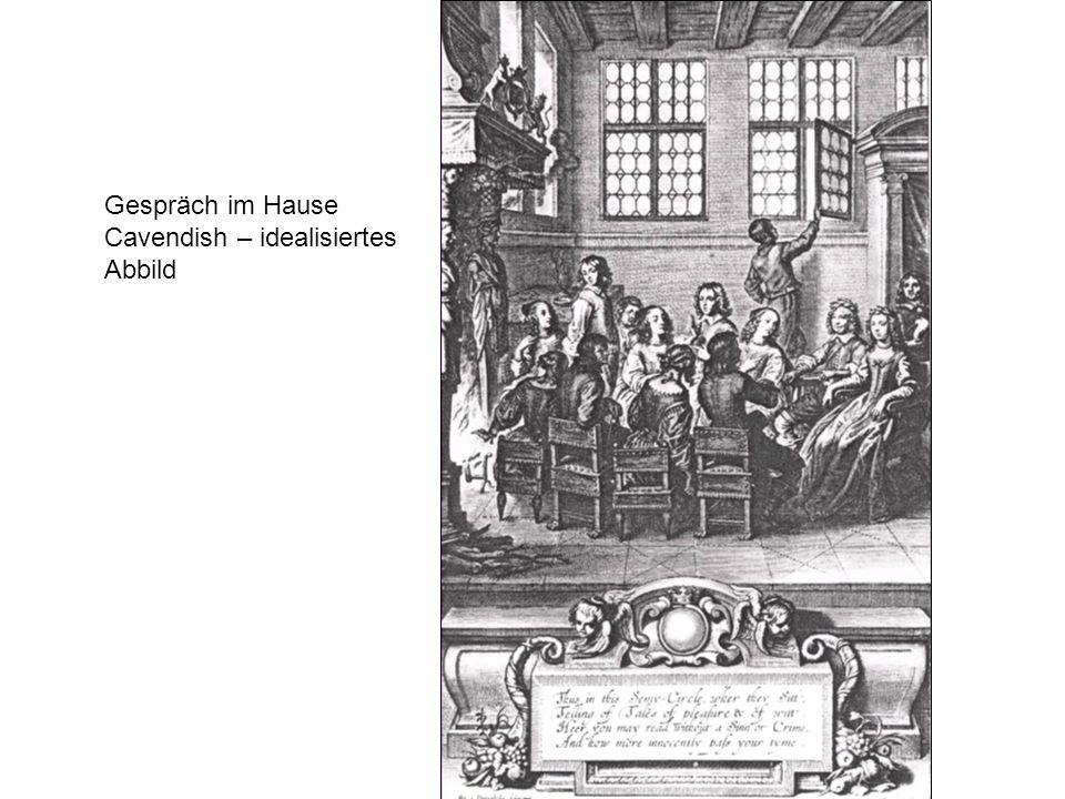 Gespräch im Hause Cavendish – idealisiertes Abbild