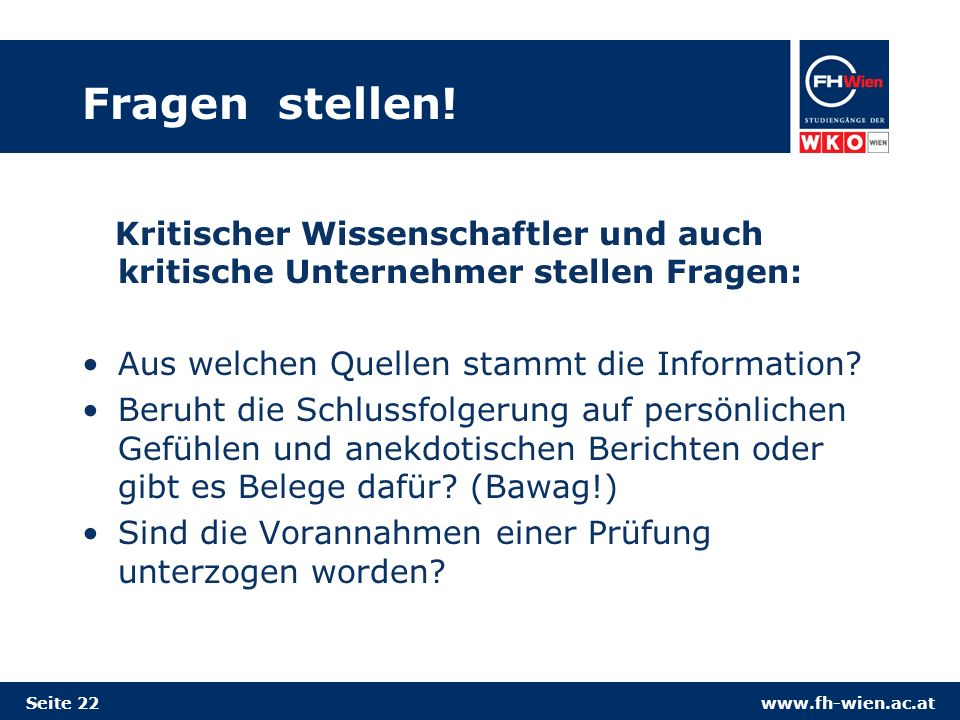 www.fh-wien.ac.at Fragen stellen.