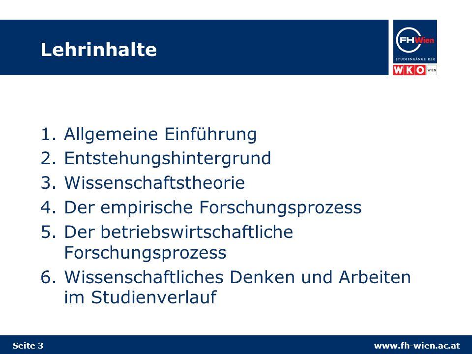 www.fh-wien.ac.at kausale und finale Denkhaltung Kausale Denkhaltung: will Ursache-Wirkungszusammenhänge erklären Wie-Fragen: z.B.