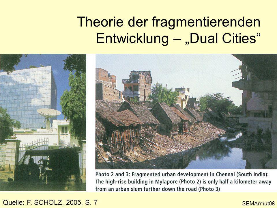 SEMArmut09 Theorie der fragmentierenden Entwicklung – Dual Cities Quelle: F.