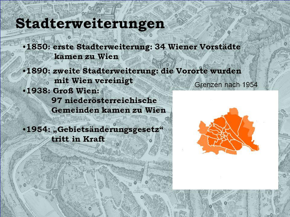 Österreichische Identität Innere Stadt (1), seit 1888 Maria- Theresien- Straße: Innere Stadt- Alsergrund (1- 9), seit 1870 Maria Theresia 1717- 1780 Regierungszeit von 1740- 1780 Elisabethallee: Meidling (12) Hietzing (13), seit 1918 Elisabethstraße: Innere Stadt (1), seit 1862 Kaiserallee: Leopoldstadt (2), seit 1884 nach Kaiser Franz Joseph I.