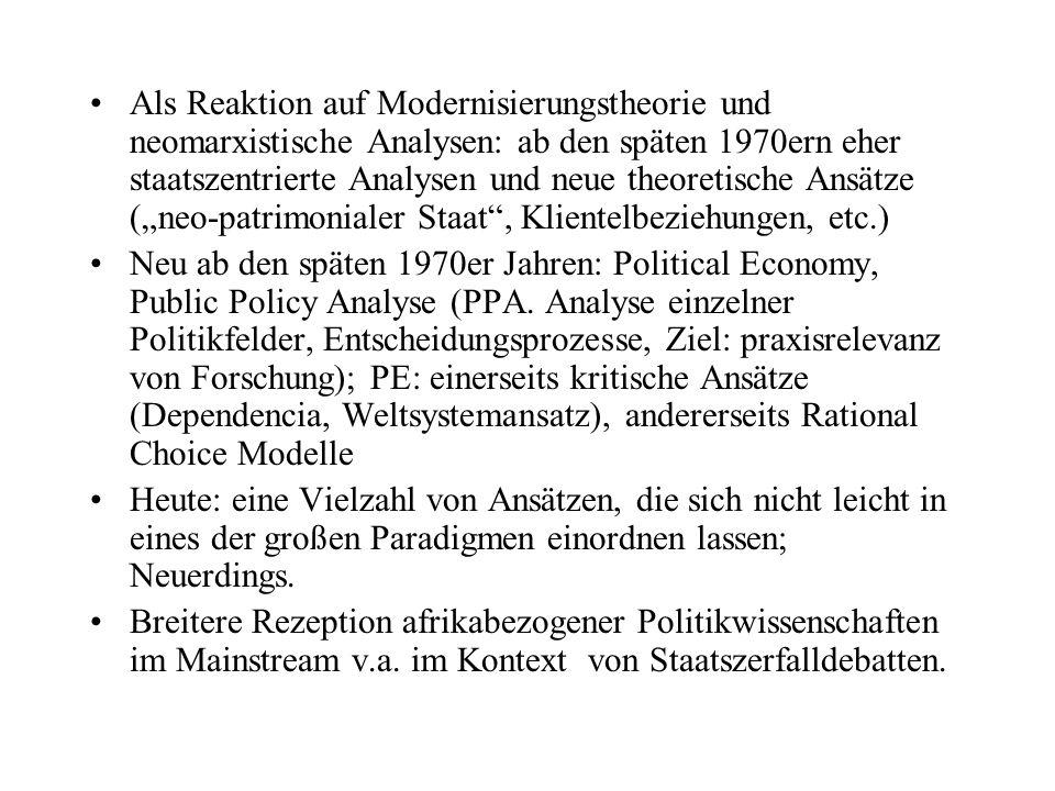 Auffallend: Mikropolitik bzw.