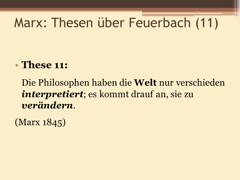 marx theses on feuerbach 11