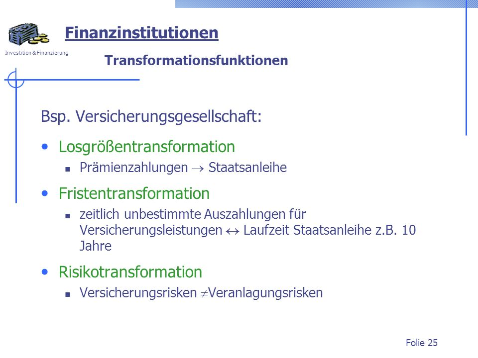 Investition & Finanzierung Folie 25 Bsp.