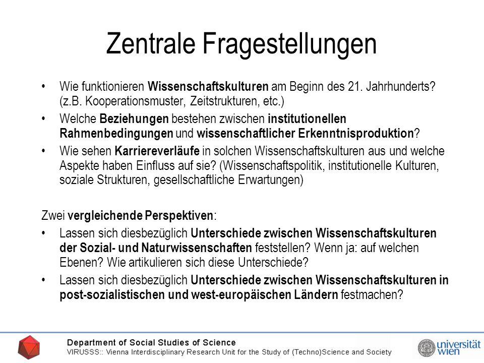 20.03.2006 Zentrale Fragestellungen Wie funktionieren Wissenschaftskulturen am Beginn des 21.