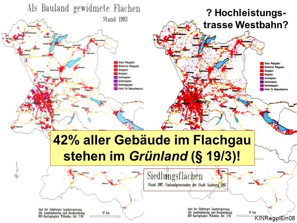 Plan und Wirklichkeit .Hochleistungs- trasse Westbahn.