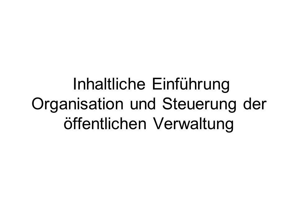 Definition von Aufgaben der öffentlichen Verwaltung.