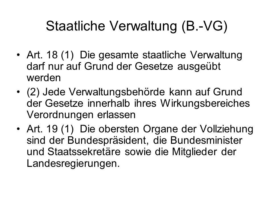 Gegenstand de LV: berufsmäßige Verwaltung Art.