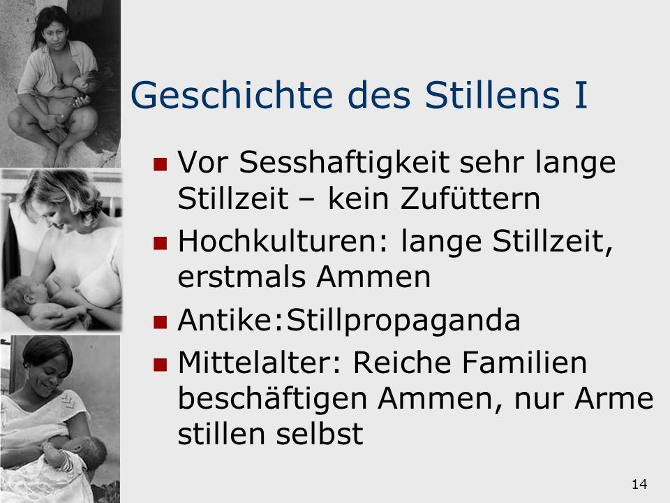 15 Geschichte des Stillens II 18.