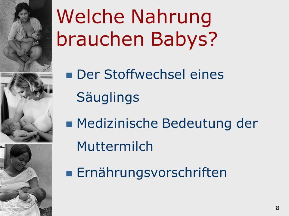 9 Der Stoffwechsel eines Säuglings Bei Abnabelung Verdauung noch nicht voll ausgereift Magendarmtrakt anders als bei Erwachsenen Die Nieren sind fast doppelt so groß wie bei Erwachsenen Im 10.- 12.