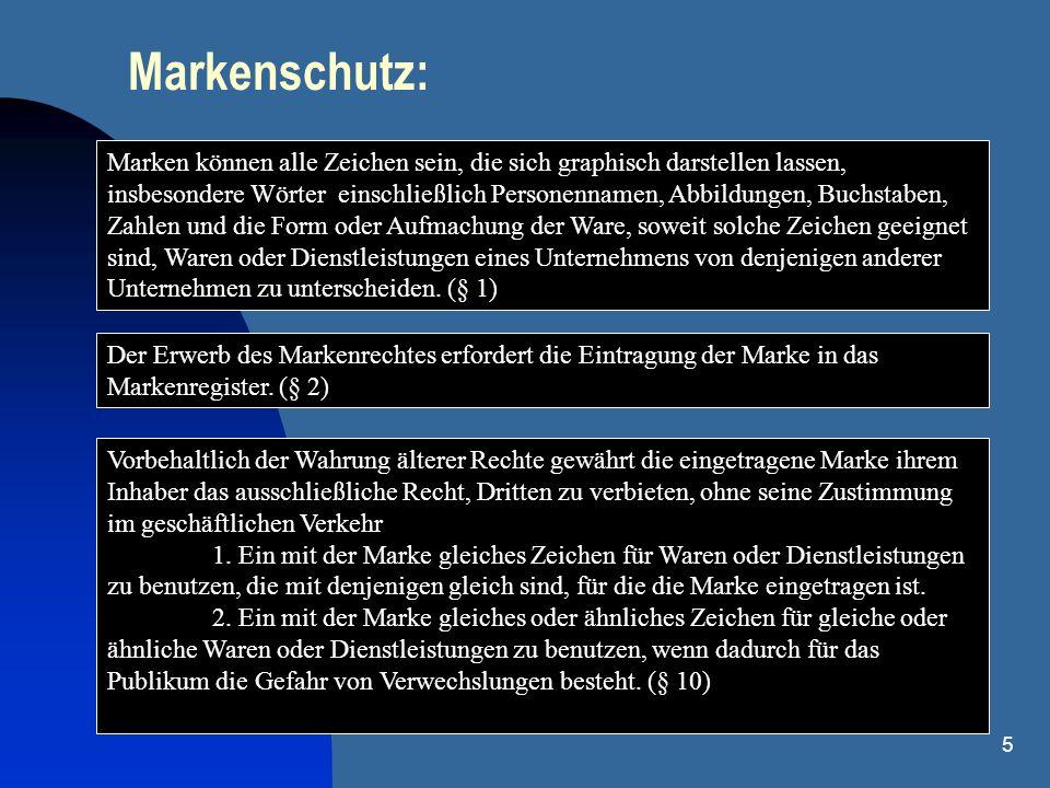 16 Softwarepatent - Österreich & Gebrauchsmuster Patent: PatG fordert Technizität Sonderfall Gebrauchsmuster: Schutz der Programmlogik ausdrücklich erlaubt (dennoch nicht das Programm als solches, also z.B.