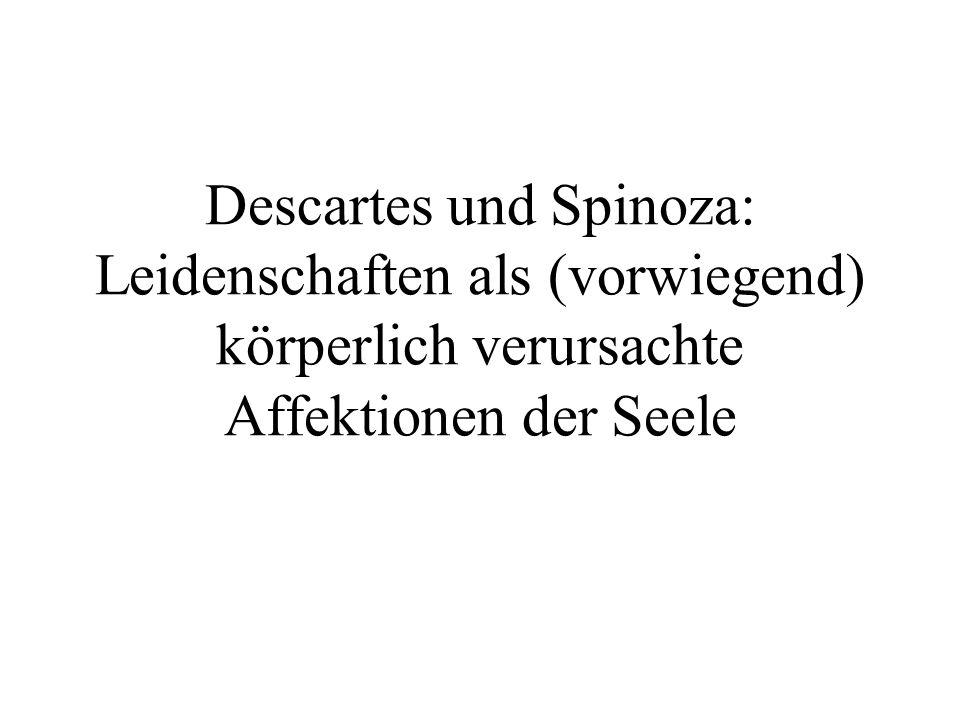 Descartes und Spinoza: Leidenschaften als (vorwiegend) körperlich verursachte Affektionen der Seele