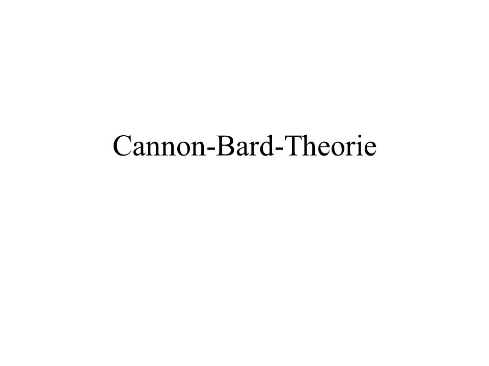 Cannon-Bard-Theorie