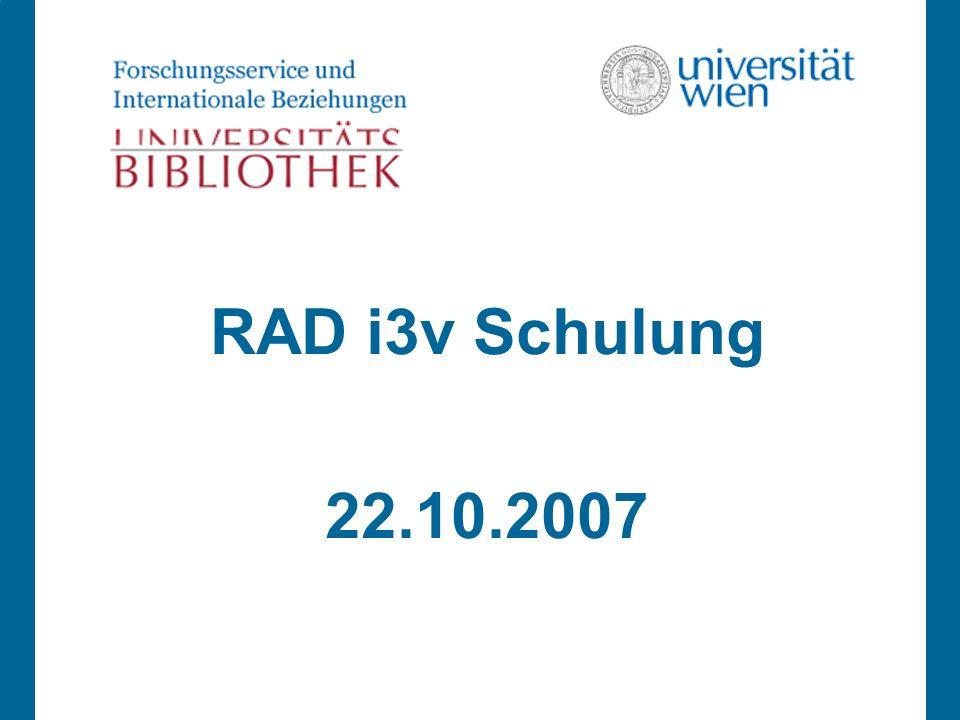 RAD i3v Schulung 22.10.2007