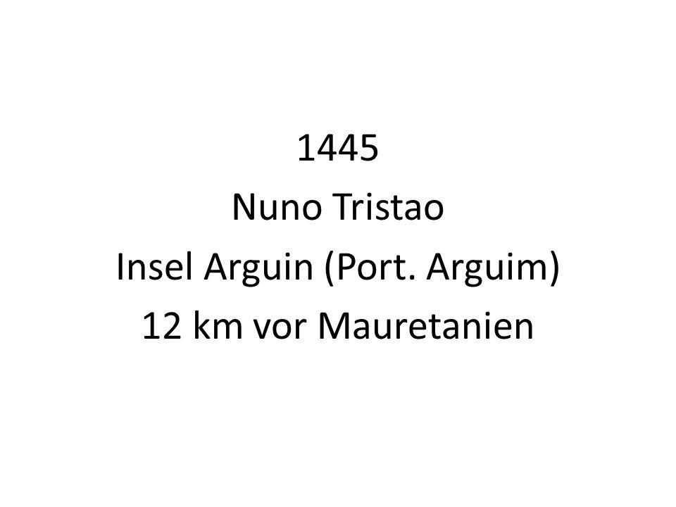 1445 Nuno Tristao Insel Arguin (Port. Arguim) 12 km vor Mauretanien