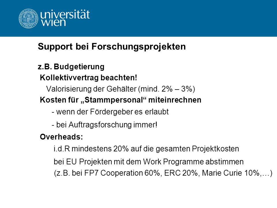 Unterschriftenregelung an der Universität §27 Projekte (z.B.