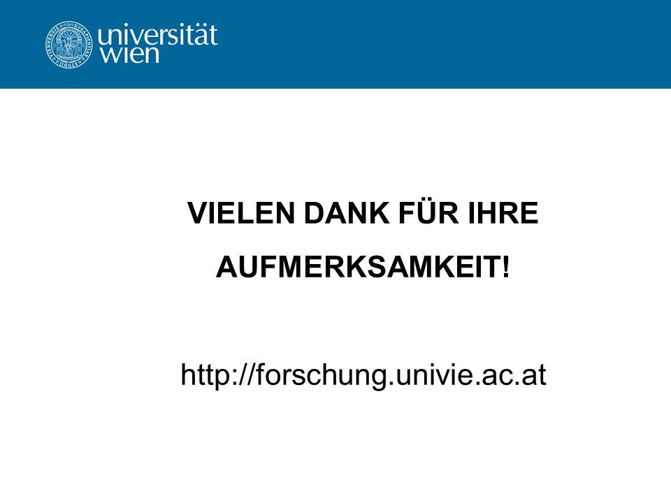 VIELEN DANK FÜR IHRE AUFMERKSAMKEIT! http://forschung.univie.ac.at