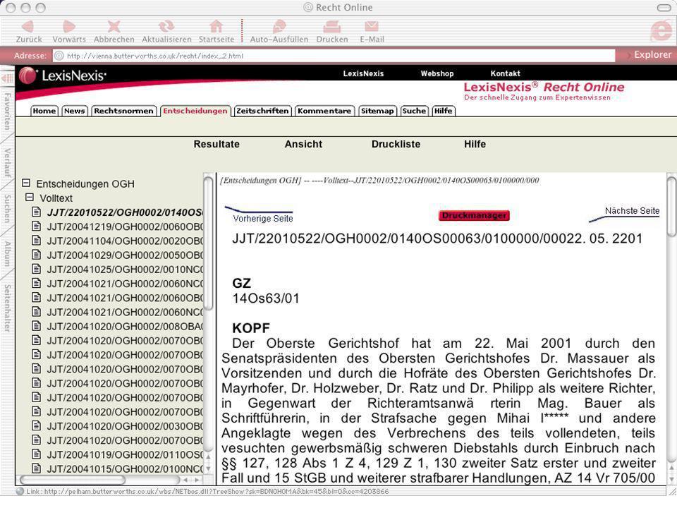 ARI Arbeitsgruppe Rechtsinformatik, Universität Wien