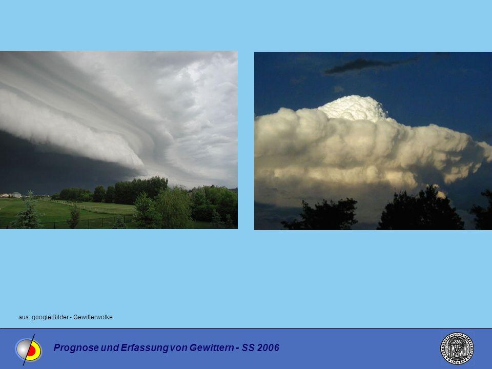 Prognose und Erfassung von Gewittern - SS 2006 aus: google Bilder - Gewitterwolke