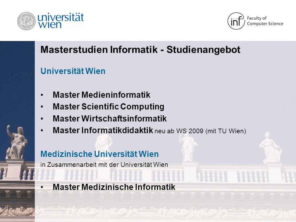 Masterstudien Informatik – Allgemeines Wozu.