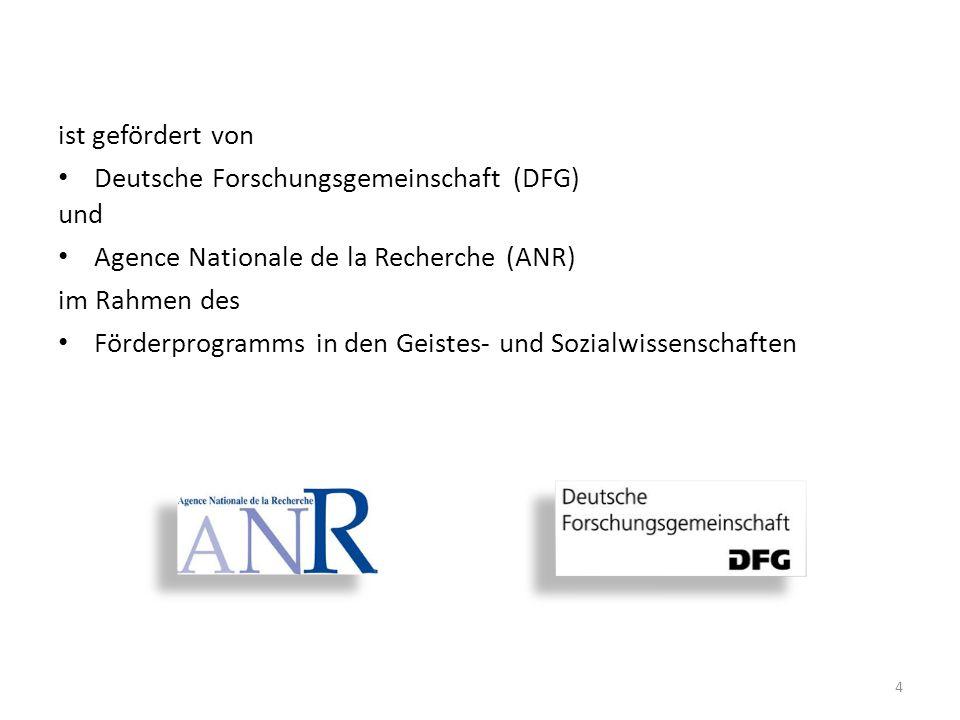 4 ist gefördert von Deutsche Forschungsgemeinschaft (DFG) und Agence Nationale de la Recherche (ANR) im Rahmen des Förderprogramms in den Geistes- und Sozialwissenschaften