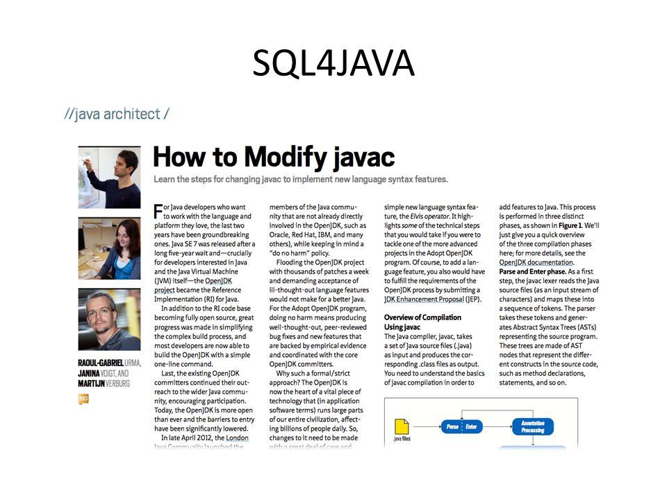 SQL4JAVA